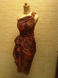 Wrap dress with indonesia traditional batik