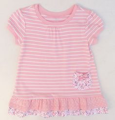 The Children's Place White & Pink Striped Swing Top Shirt Sz 18-24 Months NWT #TheChildrensPlace #DressyEveryday