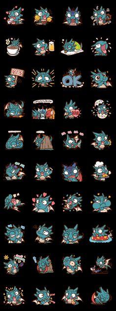Drakosaurus - LINE Creators' Stickers