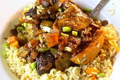 I'm a lover of Caribbean food and i'm a lover of soul food - why not put the two together? There's nothing like a little spice in your life. Pork Recipes, Wine Recipes, Indian Food Recipes, Cooking Recipes, Barbados, Jamican Recipes, Caribbean Recipes, Caribbean Food, Lab