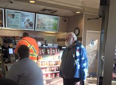Santa Lives In Small Town Ontario And Hangs Out At The Tim Hortons