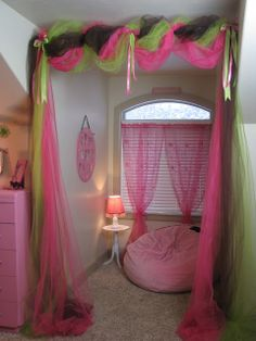Cute girls room makeover - voil nice idea different colours tho x