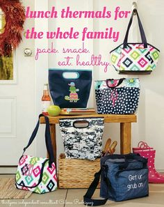 Thirty-One Gifts Lunch Thermals for the whole family Lunch Box www.mythirtyone.com/bethturner31