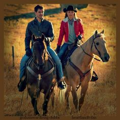 Amy and Ty out riding Watch Heartland, Amy And Ty Heartland, Heartland Seasons, Heartland Quotes, Heartland Ranch, Heartland Tv Show, Heartland Actors, Ty Y Amy, Country Couple Pictures