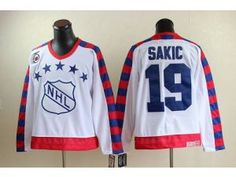 24bd87c9b02 NHL Nordiques  19 Joe Sakic White All Star CCM Throwback 75TH Stitched  Jersey