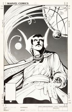 Cover to DR STRANGE #56 by Paul Smith.