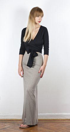 Organic Cotton Sexy Jersey Fishtail Maxi Skirt by LanaStepul, $59.00