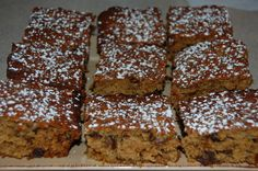 A very easy and quick slice to make. So good, particularly just out of the oven. Always gets eaten. This is a favourite slice of mine. Baking Recipes, Cookie Recipes, Dessert Recipes, Muffin Recipes, Recipes Dinner, Easy Desserts, Quick Biscuit Recipe, Date Slice, Cake Stall