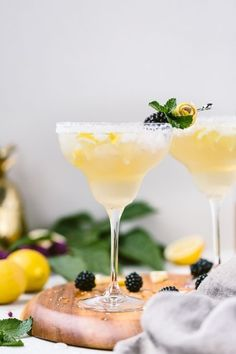 Skinny Margaritas made with Powell And Mahoney Craft Cocktails