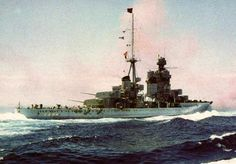 Heavy cruiser Zara of the Regia Marina (Italian Royal Navy)