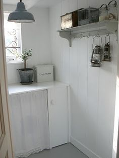 laundry room, simple yet practical