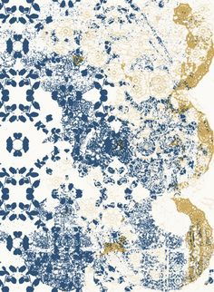 Gold Leaf Lace is one of eight designs in the State of Flow transitional wallpaper series designed by Toni Kjeld. Combine the designs to create one merged pattern. Transitional Wallpaper, World Wallpaper, Gold Lace, Carpet Design, Blue Art, Different Patterns, Pattern Wallpaper, Old World, Rugs On Carpet