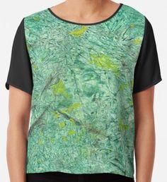 Green Wrapped Paper  Chiffon Top Watercolor Circles, Watercolor Texture, Watercolor Pattern, Abstract Watercolor, Yellow Art, Green Art, Mermaid Art, Conceptual Art, Wearable Art