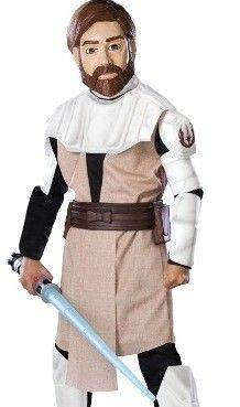 a costume great for clone wars enthusiasts rubies star wars animated deluxe obi wan kenobi - Clone Wars Halloween Costumes