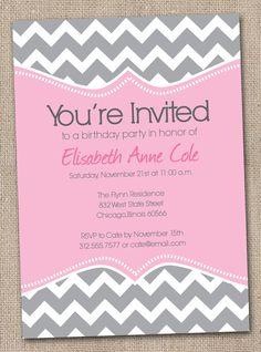chevron party invite