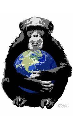 I care, 2014. Disegno realizzato in collaborazione con It@rt per la Jane Goodall Institute. #mion #JaneGoodall #tshirt #care #stencil #world #chimpanzee #nature #save #stencil #painting #murales