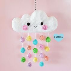 Cloud Mobile PDF Pattern, crochet, amigurumi * Please note that this is a crochet pattern PDF and NOT a finished item * ………………………………………………………………………………………………………… This is a pattern for a super cute and happy Cloud. Crochet Amigurumi, Amigurumi Doll, Crochet Dolls, Knit Crochet, Booties Crochet, Crochet Summer, Crochet Pillow, Hand Crochet, Mobiles En Crochet