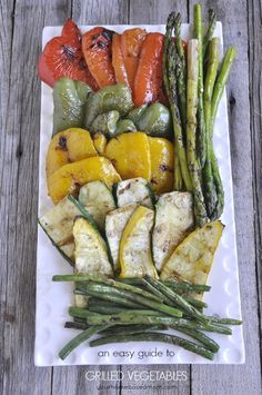 Grilled Vegetables - drizzle them with a bit of balsamic vinegar and you've got a delicious side dish!