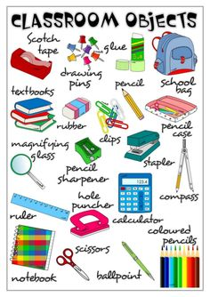 classroom objects vocabulary - Buscar con Google