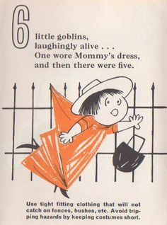 Vintage Halloween Ephemera ~ A Page from a Minnesota Department of Health Halloween Safety Pamphlet * Circa,