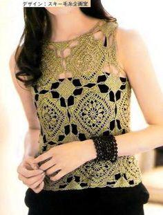 Fabulous Vest     Using gold Metallic Crochet Yarn                   Pattern (A)…               Pattern (B)…               Pattern (C)…  ...