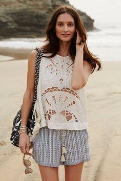 Linen Beach Shorts - anthropologie.com #anthrofave