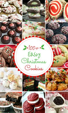 'Tis the season for Christmas cookies! From gingerbread to festive sugar cookies, there are over 200 of the best Christmas cookie recipes with pictures. Chocolate Christmas Cookies, Christmas Sugar Cookies, Christmas Snacks, Christmas Cooking, Holiday Cookies, Christmas Fun, Christmas Appetizers, Holiday Desserts, Holiday Treats