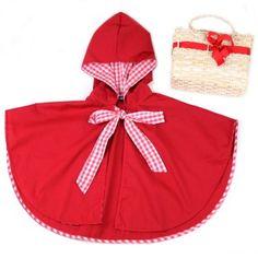 Capa Chapeuzinho Vermelho com Cestinha - A Paçoca