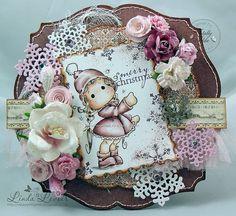 OOAK Handmade Magnolia Show the Way Tilda' Christmas Card