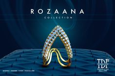 An exclusive range of must-have V-rings from our Rozaana Collection Fancy Jewellery, Gold Rings Jewelry, Mom Jewelry, Gold Jewellery Design, Diamond Jewellery, Vanki Designs Jewellery, Gold Mangalsutra Designs, Vanki Ring, Gold Finger Rings