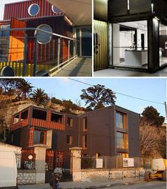 30 Eco-Chic Houses Made of 10 Types of Recycled Materials - WebEcoist - recycling containers Sustainable Design, Sustainable Living, Shipping Container Homes, Shipping Containers, Recycled House, Recycling Containers, House Made, Chicano, Recycled Materials
