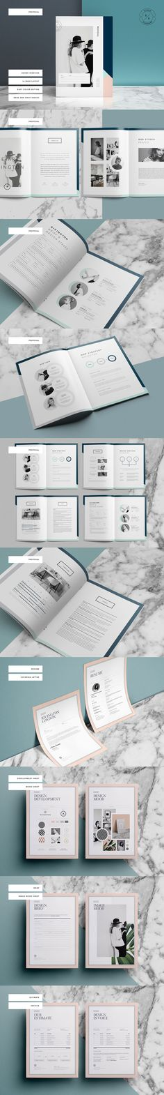 Brochure / Magazine Template on CreativeMarket, A4, A5
