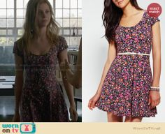 Bradley's floral dress on Bates Motel. Outfit Details: http://wornontv.net/28241 #BatesMotel #fashion