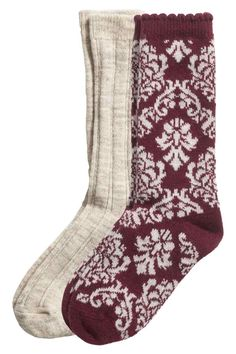 2 pares de calcetines gruesos   H&M