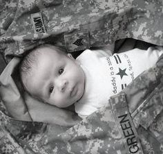 Baby picture idea...Little Soldier :) @Danielle Wincapaw
