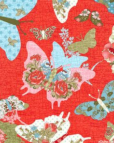 pretty butterflies fabric