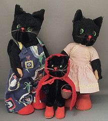 Clothes for Kersa Cats (Cattwo's Catsy & Friends) Tags: cat vintage toy doll vintagedollclothes kersa blackkersacats