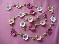 crochet garland by blanche
