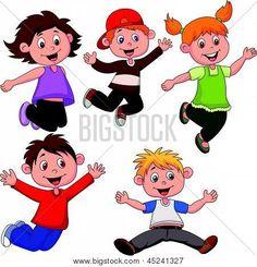 Imagenes de dibujos de niños alegres - Imagui