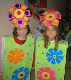 fleurs Flower Costume, Costume Dress, Nursery Activities, Activities For Kids, Animal Crafts For Kids, Art For Kids, Costume Fleur, Carnival Crafts, Fun Crafts