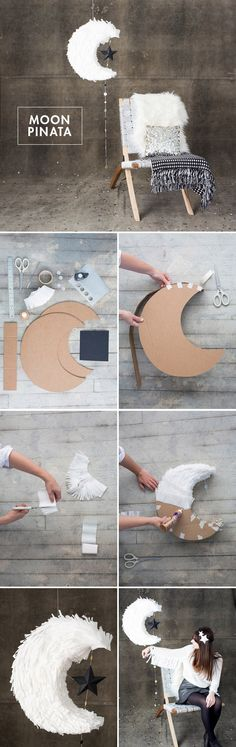 DIY Moon Pinata tutorial for weddings