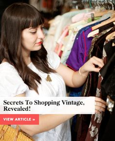 sharing a few vintage shopping tips up on @Refinery29 #r29mystylist!