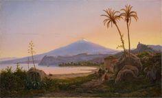 Artwork by Eugene von Guerard, Der Ätna im Abendlicht, Made of oil on canvas
