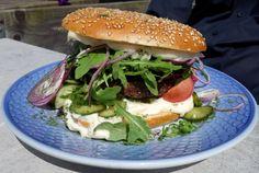 Sønderho burger med lokale Vadehavs-råvarer på Fanø.