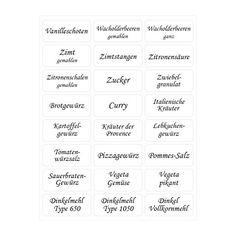 144 Gewürzetiketten – NEUAUFLAGE 2016 - 33x15mm - transparent - selbstklebend - abwaschbar: Amazon.de: Küche & Haushalt
