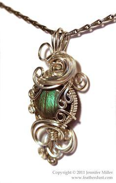Lichen Green Mini Labradorite Pendant by ~Nambroth on deviantART