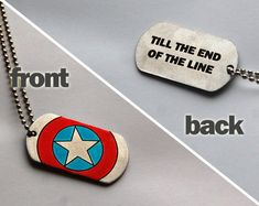 Captain America dog tags till the end of the line by TwinsGeekShop