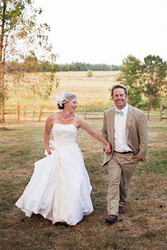 Elegant Country Wedding Couple