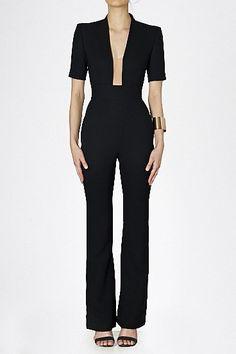 Long Dresses & Jumpsuits - 'Plunging into Fashion' Jumpsuit