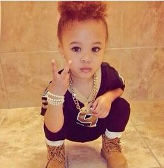 Cute Baby Girl With Swag Tumblr